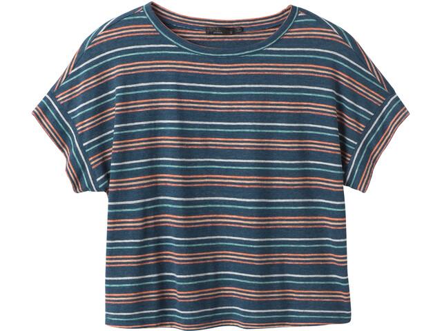 Prana Vosky T-shirt Femme, atlantic stripe